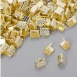 Zdjęcie - Końcówki zaciskowe szczęki szerokie w złotym kolorze
