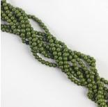 Zdjęcie - Koraliki szklane powlekane zielone