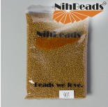 Zdjęcie - Koraliki NihBeads Metallic Frosted Gold Topaz