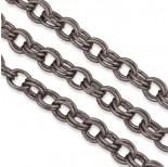 Zdjęcie - Czerniony łańcuch aluminiowy owal podwójny