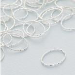 Zdjęcie - Srebrny łącznik  owal diamentowy ag925