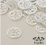 Zdjęcie - Zawieszka ażurowa z delikatnym wzorkiem w srebrnym kolorze