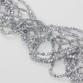 Zdjęcie - Kryształki oponki fasetowane half silver