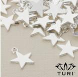 Zdjęcie - Zawieszka gwiazda w srebrnym kolorze