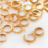 Zdjęcie - Srebnre bigle okrągłe kajdanki AG925 złocone