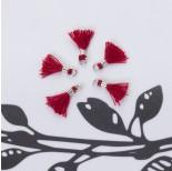 Zdjęcie - Mini chwosty w srebrnym okuciu bordowy
