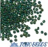 Zdjęcie - Koraliki TOHO Round Trans-Rainbow Green Emerald