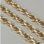 Zdjęcie - Łańcuch aluminiowy owal podwójny gładki złoty