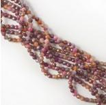 Zdjęcie - Naturalny rubin z szafirem kulka fasetowana