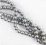 Zdjęcie - Perły szklane kulki srebrne