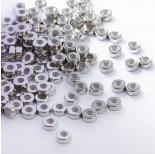 Zdjęcie - Zapięcie stoper z silikonem ze stali chirurgicznej walec srebrny