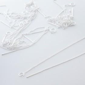 Zdjęcie - Baza do kolczyków z łańcuszkiem srebrna