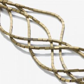 Zdjęcie - Hematyt platerowany matowy czworokąt złoty