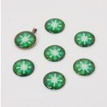 Zdjęcie - Kaboszon szklany kalejdoskop zielony