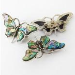 Zdjęcie - Broszka motyl z muszli paua