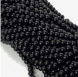 Zdjęcie - Koraliki szklane powlekane satynowe czarne
