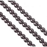 Zdjęcie - Perły szklane metaliczny fiolet