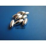 Zdjęcie - Srebrne oliwki gładkie długie, Ag925