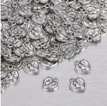 Zdjęcie - Zawieszka serduszko w kolorze ciemnego srebra z zakochaną parą