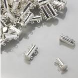 Zdjęcie - Zapięcie rozsuwane magnetyczne 2 sznurki srebrny