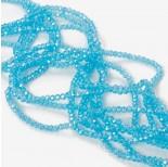 Zdjęcie - Kryształki oponki fasetowane blue lagune AB