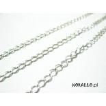Zdjęcie - Srebrny łańcuch diamentowany, Ag925