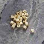 Zdjęcie - Srebrna satynowa kosteczka Ag925 pozłacana