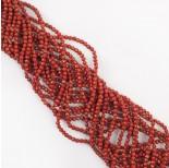 Zdjęcie - Jaspis czerwony kulka fasetowana