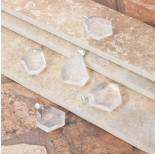 Zdjęcie - Kryształ górski zawieszka fasetowana biały