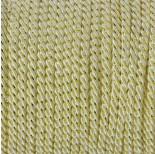 Zdjęcie - Sznurek kremowy skręcany ze złotą nicią