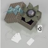 Zdjęcie - Metka z gumką do biżuterii biały