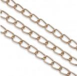 Zdjęcie - Rose gold łańcuch aluminiowy owal kratkowany