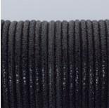 Zdjęcie - Rzemień klejony czarny w błyszczące plamki