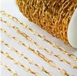 Zdjęcie - Łańcuch ze stali chirurgicznej owal złoty