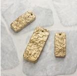 Zdjęcie - Kwarc prostokąty zestaw złoty