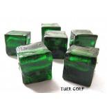 Zdjęcie - Szkło weneckie kostka zielona