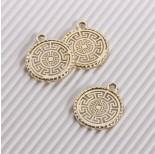 Zdjęcie - Zawieszka ażurowa wzór grecki złoty