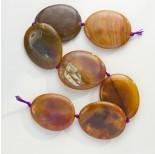 Zdjęcie - Agat owal polerowany brązowy