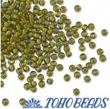 Zdjęcie - Koraliki TOHO Round Inside-Color Luster Black Diamond/Opaque Yellow Lined