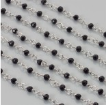 Zdjęcie - Łańcuch z kryształkami oponkami jet