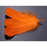 Zdjęcie - Pióra naturalne barwione koloru pomarańczowego