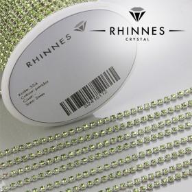 Zdjęcie - Taśma z kryształkami kolor srebrny peridot