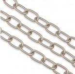 Zdjęcie - Perłowy łańcuch aluminiowy owal gładki