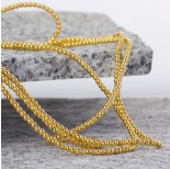 Zdjęcie - Hematyt kulki platerowane gładkie light gold