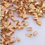 Zdjęcie - Krawatka zwężana prosta ze stali chirurgicznej złoty