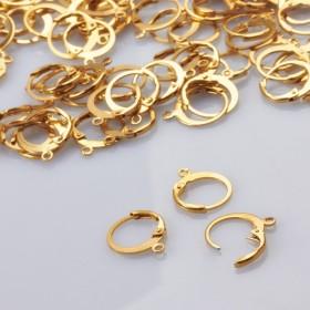 Zdjęcie - Bigle angielskie okrągłe ze stali chirurgicznej pozłacane złoty