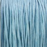 Zdjęcie - Sznurek bawełniany woskowany błękitny