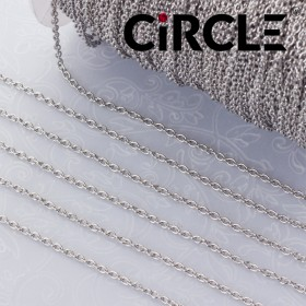 Zdjęcie - Łańcuszek owal ze stali chirurgicznej