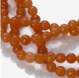 Zdjęcie - Jadeit kulka fasetowana pomarańczowa