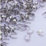 Zdjęcie - Krawatka zwężana prosta ze stali chirurgicznej srebrny